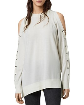 ALLSAINTS - Cross Lace-Up Sweater