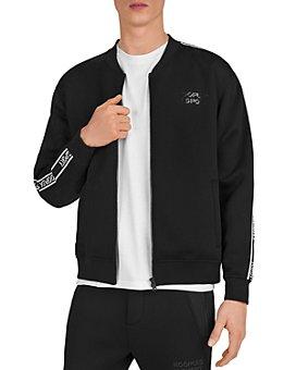 The Kooples - Fleece & Band Zip-Front Sweatshirt