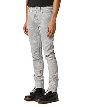 Hudson - Axl Skinny Fit Jeans in Gray Acid