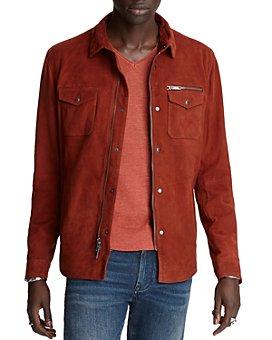 John Varvatos Star USA - Collection Shilo Suede Regular Fit Shirt Jacket