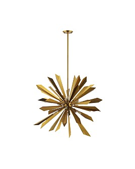 Modway - Pervade Starburst Brass Pendant 16-Light Chandelier