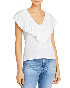 Goldie - Ruffled-Neck Top