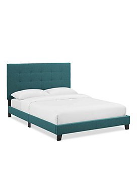 Modway - Melanie Tufted Button Upholstered Fabric Platform Bed, King