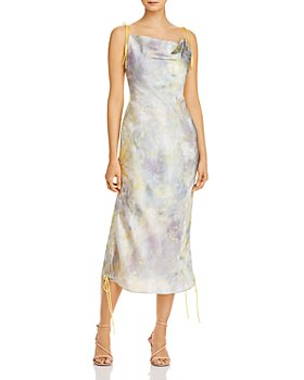 O.P.T - Gaja Ruched Cowl-Neck Dress