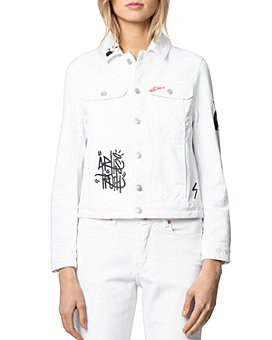 Zadig & Voltaire - Kioky Jormi White Denim Jacket