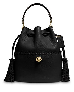 COACH - Lora Mini Whipstitch Leather Bucket Bag