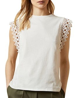 Ted Baker - Ulayna Lace-Sleeve Cotton Top