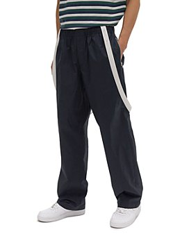 Helmut Lang - Cotton Regular Fit Drawstring Pants with Removable Suspenders