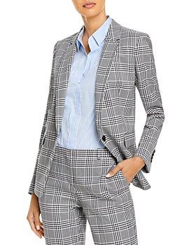 BOSS - Jemaromina Checked Single Button Blazer