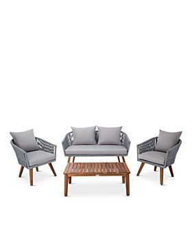 SAFAVIEH - Velso 4-Piece Indoor/Outdoor Living Set