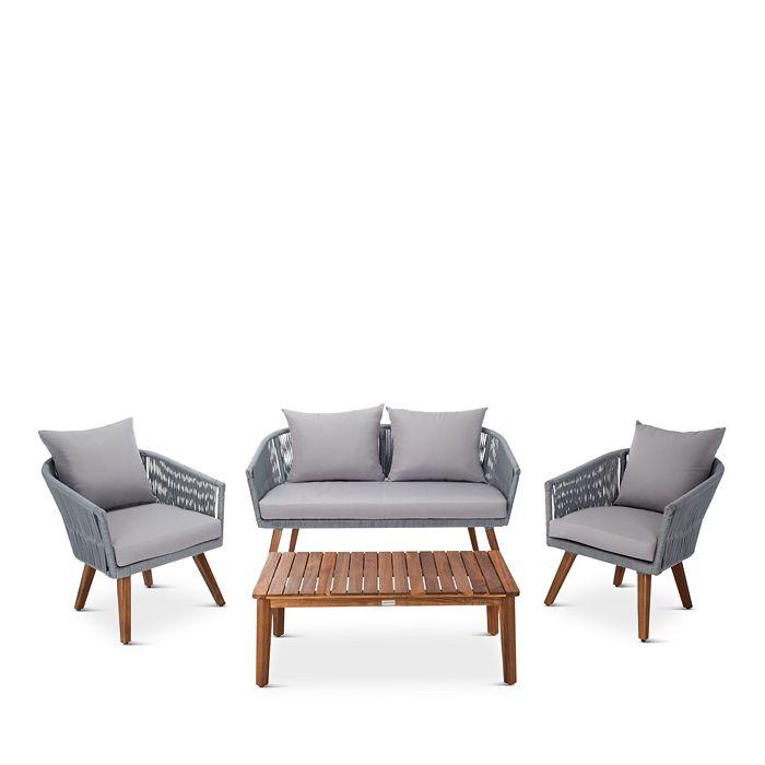 SAFAVIEH - Velso 4-Piece Indoor/Outdoor Living Set