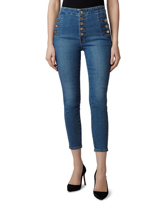 J Brand Natasha Sky High Cropped Skinny Jeans