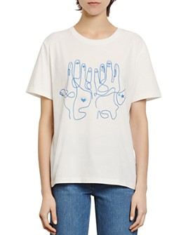 Sandro - Maine Embroidered T-Shirt