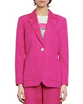 Sandro - Hanel Abstract-Print Blazer