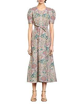 Sandro - Irya Floral-Print Midi Dress
