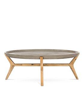 SAFAVIEH - Hadwin Indoor/Outdoor Modern Concrete Oval Coffee Table