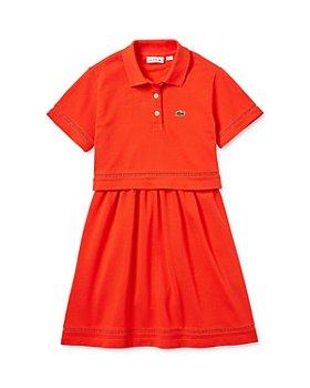 Lacoste - Girls' Short-Sleeve Piqué Polo Dress - Little Kid, Big Kid