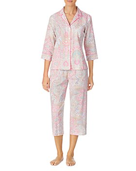 Ralph Lauren - Grosgrain-Ribbon-Trim Capri Pajamas Set