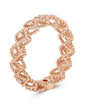 Roberto Coin - 18K Rose Gold Roman Barocco Diamond Band