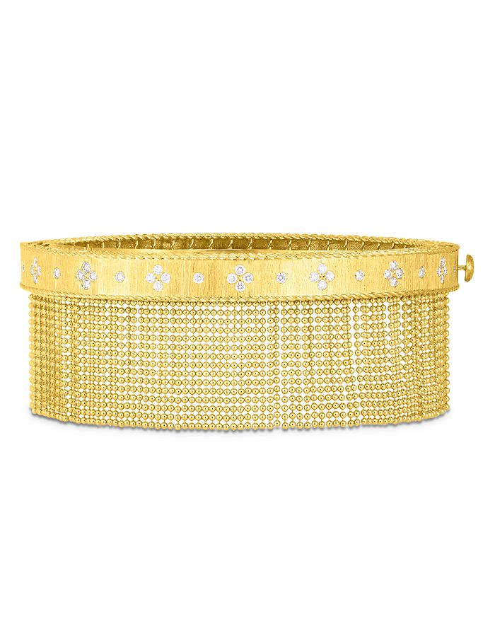 Roberto Coin - 18K Yellow Gold Venetian Princess Diamond Tassel Bangle Bracelet