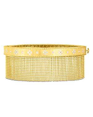 Roberto Coin 18K Yellow Gold Venetian Princess Diamond Tassel Bangle Bracelet-Jewelry & Accessories