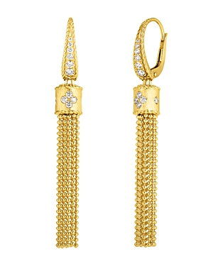 Roberto Coin 18K Yellow Gold Princess Diamond Tassel Drop Earrings