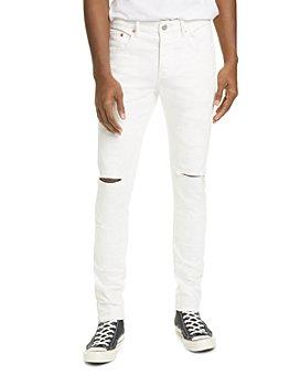 Purple Brand - Skinny Fit Jeans in White Stripes