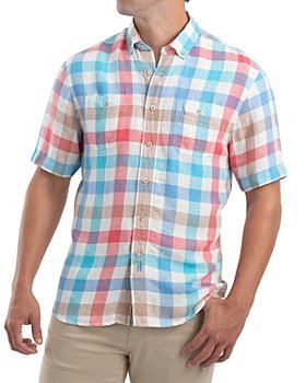 Johnnie-O - Presley Linen-Blend Check Classic Fit Button-Down Shirt