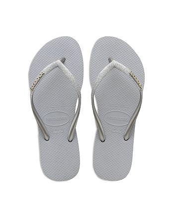 havaianas - Girls' Slim Shiny Flip Flops - Toddler, Little Kid