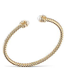 David Yurman - 18K Yellow Gold Renaissance Bracelet with Pearls & Diamonds