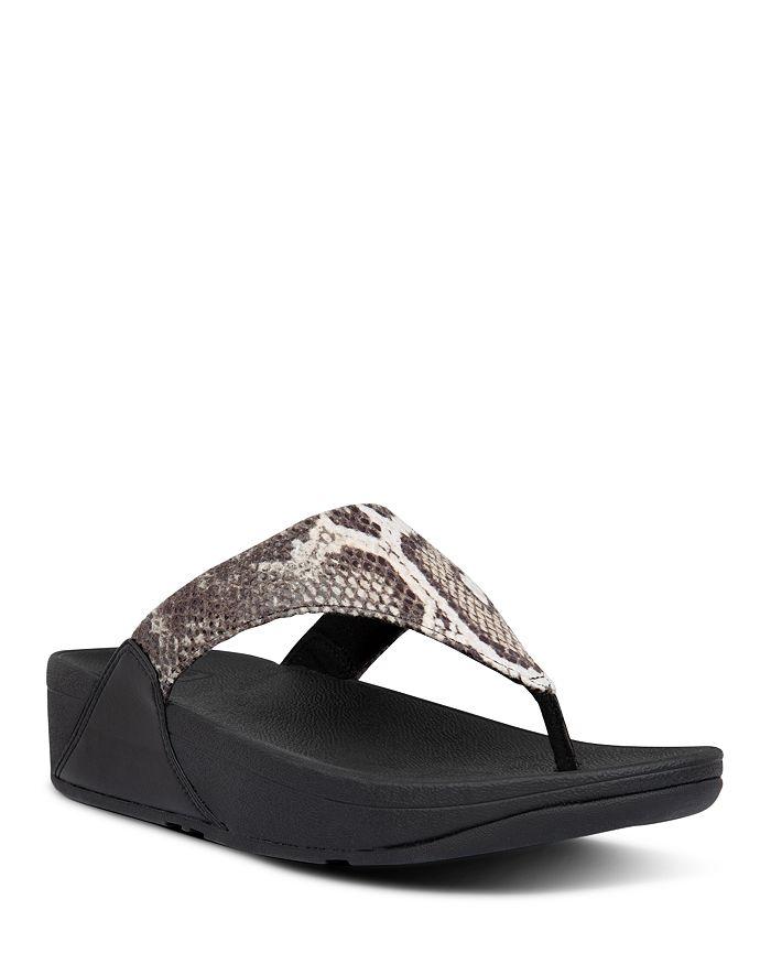 FitFlop - Women's Lulu Snake Look Thong Sandals