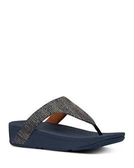 FitFlop - Women's Lottie Glitter Strip Thong Sandals