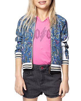 Zadig & Voltaire - Girls' Ben Paisley Print Bomber Jacket - Little Kid, Big Kid