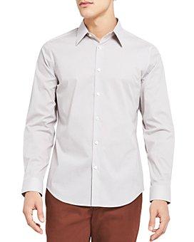 Theory - Sylvain Micro Print Button Down Shirt