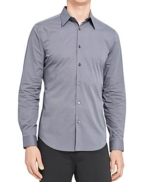 Theory Sylvain Micro Print Button Down Shirt-Men