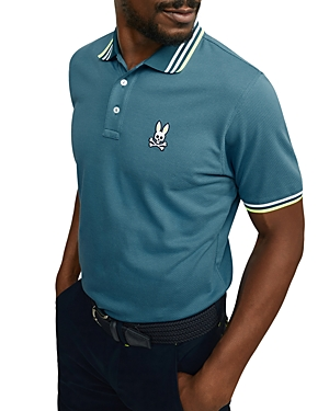 Psycho Bunny WOBURN SPORTS TIPPED LOGO CLASSIC FIT POLO SHIRT