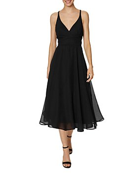 Laundry by Shelli Segal - Strappy Chiffon Midi Dress