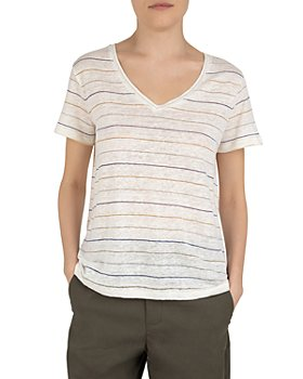 Gerard Darel - Jahnaelle Striped V Neck Tee