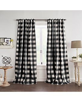Elrene Home Fashions - Grainger Buffalo Check Blackout Window Curtains