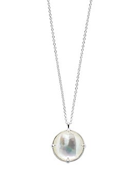"""IPPOLITA - Sterling Silver Rock Candy® Clear Quartz over Mother of Pearl Doublet Pendant Necklace, 35"""""""