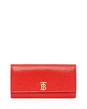 Burberry - Monogram Motif Grainy Leather Continental Wallet