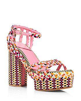 ANTOLINA - Women's Multicolored Woven Platform Sandals