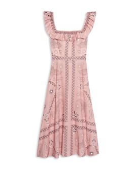 Sandro - Gale Printed Midi Dress