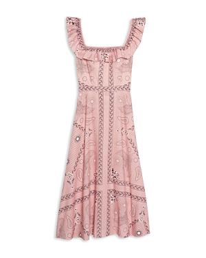 Sandro Gale Printed Midi Dress