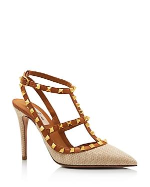 Valentino Garavani Women\\\'s Rockstud T-Strap High-Heel Pumps