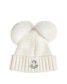 Moncler - Girls' Double Pom-Pom Hat - Little Kid, Big Kid