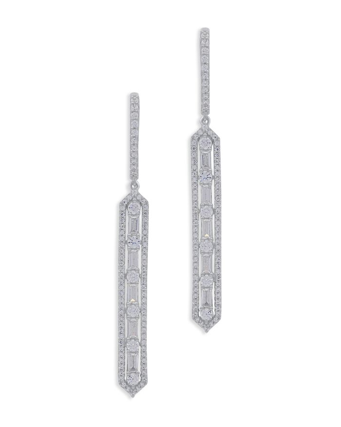 Bloomingdale's Diamond Linear Drop Earrings in 14K White Gold - 100% Exclusive  | Bloomingdale's