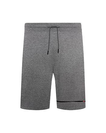 HUGO - Dusol Cotton Logo Stripe Regular Fit Sweat Shorts
