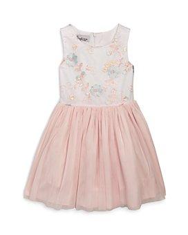Pippa & Julie - Girls' Embroidered Mesh Bodice Tutu Dress - Little Kid