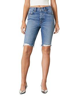 GRLFRND - Beverly Slim Fit Bermuda Jean Shorts in New Song